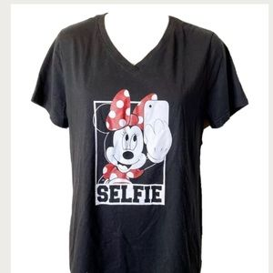 Time and Tru Minnie Mouse Selfie Tshirt XL 16 18